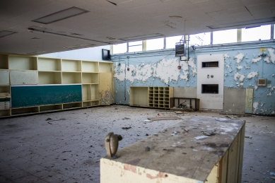 Abandoned Elementary School in Central City, New Orleans.